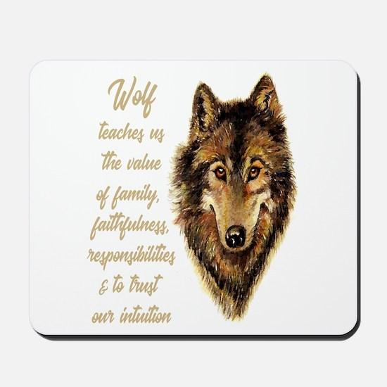 Wolf Totem Animal Spirit Guide for Inspi Mousepad