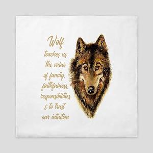Wolf Totem Animal Spirit Guide for Ins Queen Duvet