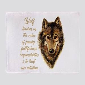 Wolf Totem Animal Spirit Guide for I Throw Blanket