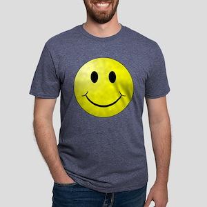 Smiley Face Mens Tri-blend T-Shirt