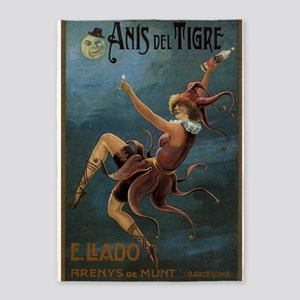 Anis del Tigre, Beverage,Jester, Vintage Poster 5'