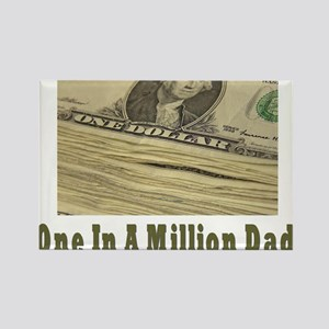 One In A Million Dad Rectangle Magnet