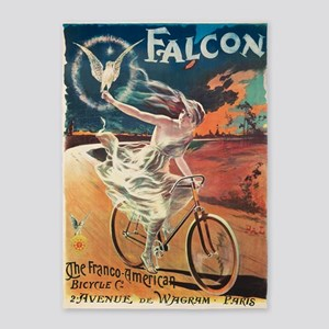 Cycles,Falcon,Bicycle, Vintage Poster 5'x7'Area Ru