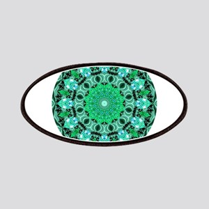Emerald Crystals Mandala Patches