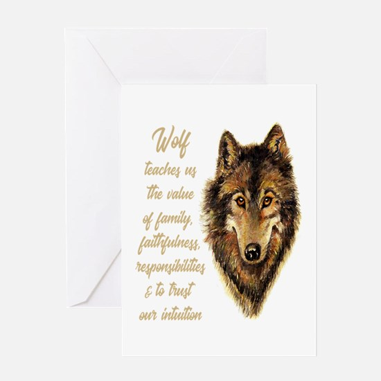 Wolf Totem Animal Spirit Guide for Greeting Cards