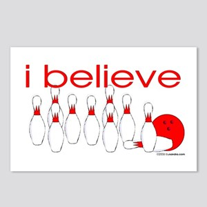 I believe in bowling Postcards (Package of 8)