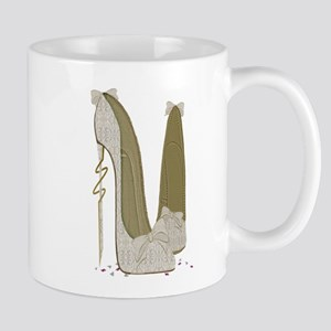 Wedding Stiletto Shoes Art Mugs