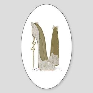 Wedding Stiletto Shoes Art Sticker