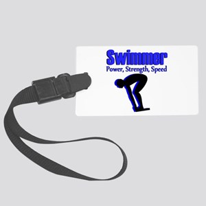 NUMBER 1 SWIMMER Large Luggage Tag