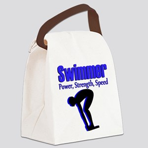 NUMBER 1 SWIMMER Canvas Lunch Bag