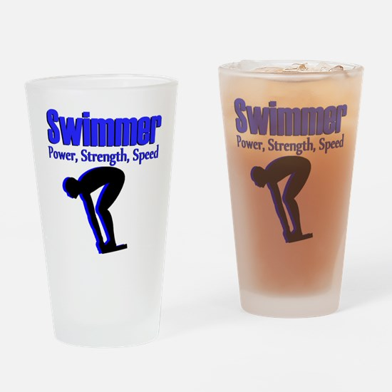 NUMBER 1 SWIMMER Drinking Glass