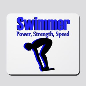 NUMBER 1 SWIMMER Mousepad