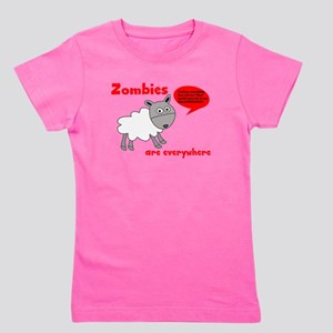 Zombies are Everywhere Girl's Tee
