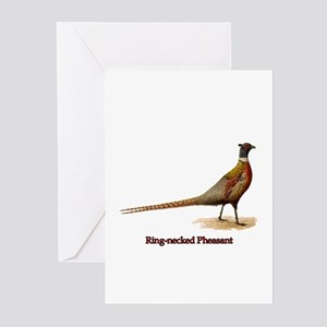 Ring-necked Pheasant Greeting Cards