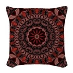 Chocolate Raspberries Woven Throw Pillow