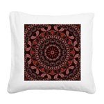 Chocolate Raspberries Square Canvas Pillow