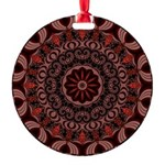 Chocolate Raspberries Round Ornament