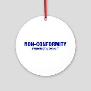 NON-CONFORMITY-HEL-BLUE Ornament (Round)