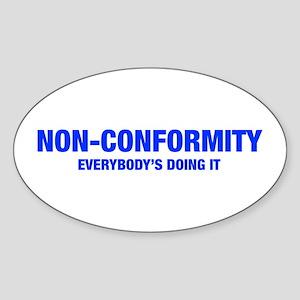 NON-CONFORMITY-HEL-BLUE Sticker