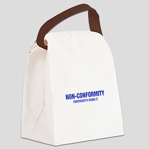 NON-CONFORMITY-HEL-BLUE Canvas Lunch Bag