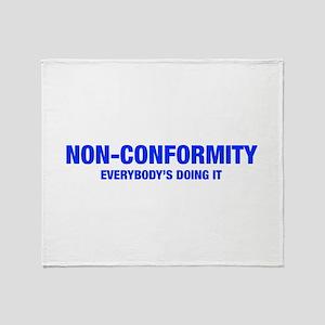 NON-CONFORMITY-HEL-BLUE Throw Blanket