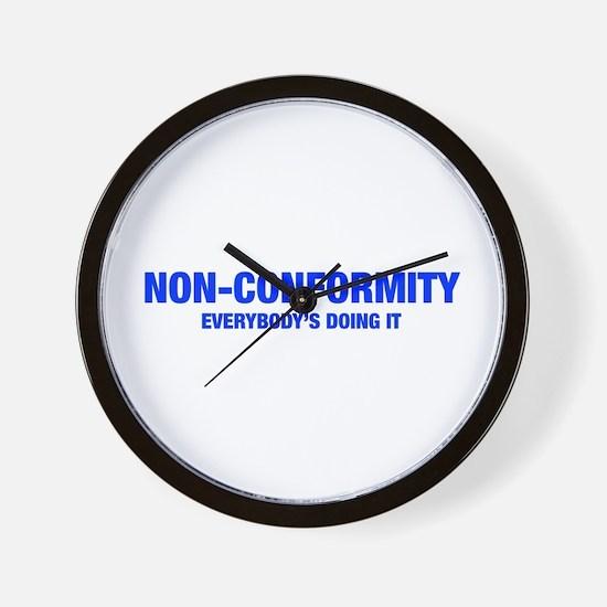 NON-CONFORMITY-HEL-BLUE Wall Clock