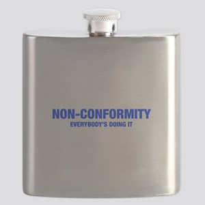 NON-CONFORMITY-HEL-BLUE Flask