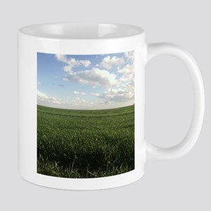 Alfalfa Field Bright Almost Clear Day Mugs