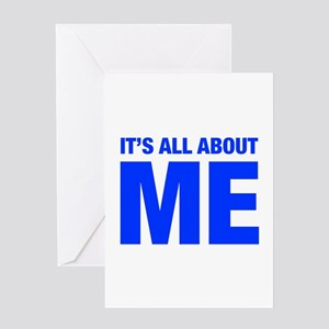 ITS-ME-HEL-BLUE Greeting Cards