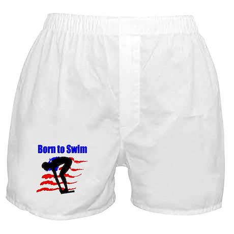 BORN TO SWIM Boxer Shorts