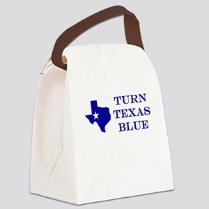 Turn Texas Blue Canvas Lunch Bag