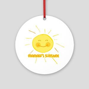 Mamaw's Sunshine Ornament (Round)