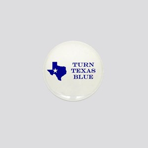 Turn Texas Blue Stkr Mini Button