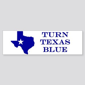 Turn Texas Blue Stkr Bumper Sticker