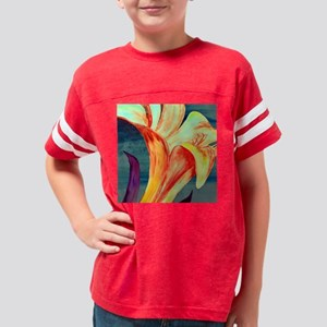 Floral abstract Modern Style  Youth Football Shirt