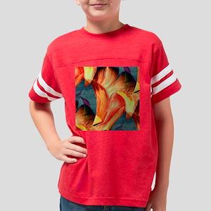 Abstract Floral Wall Clock Youth Football Shirt