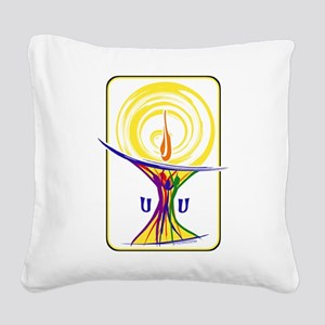 UU Unity Chalice Square Canvas Pillow