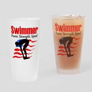 LOVE TO SWIM Drinking Glass