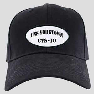 USS YORKTOWN Black Cap with Patch