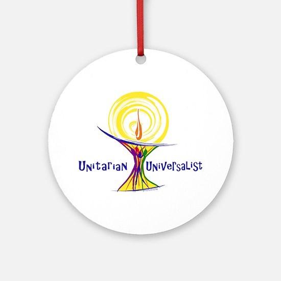 UU Unity Chalice Ornament (Round)