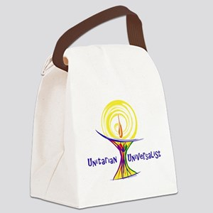UU Unity Chalice Canvas Lunch Bag