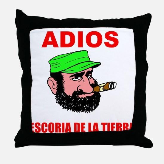 ADIOS FIDEL Throw Pillow