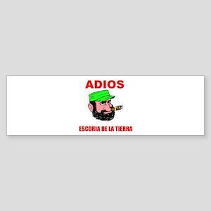 ADIOS FIDEL Bumper Sticker