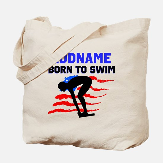 BORN TO SWIM Tote Bag