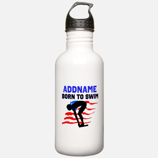 BORN TO SWIM Water Bottle