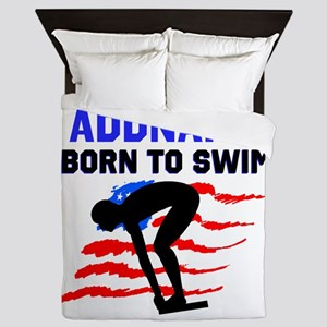 BORN TO SWIM Queen Duvet