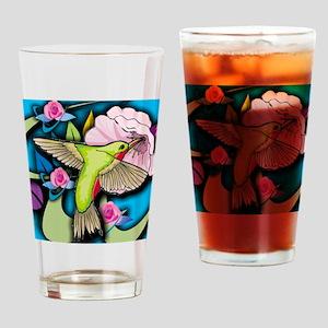 Janelle's Hummingbird Drinking Glass