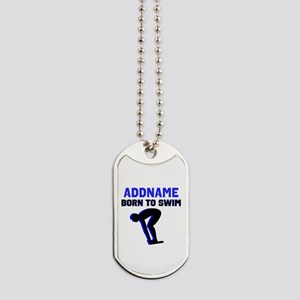 SWIMMER CHAMP Dog Tags