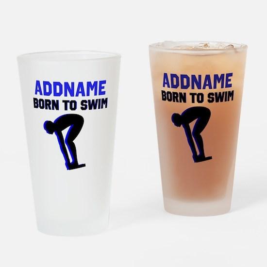 SWIMMER CHAMP Drinking Glass