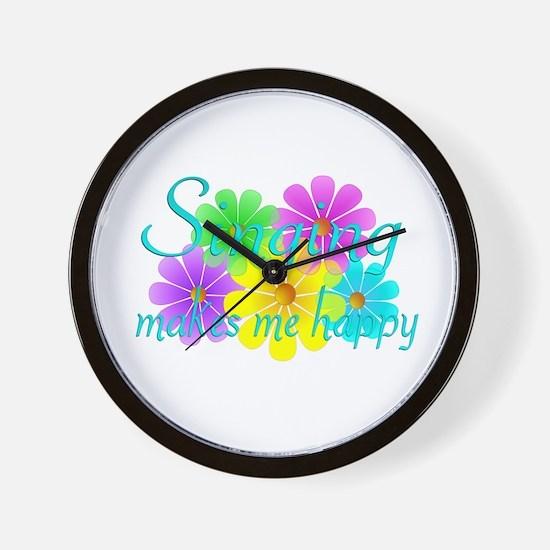 Singing Happiness Wall Clock